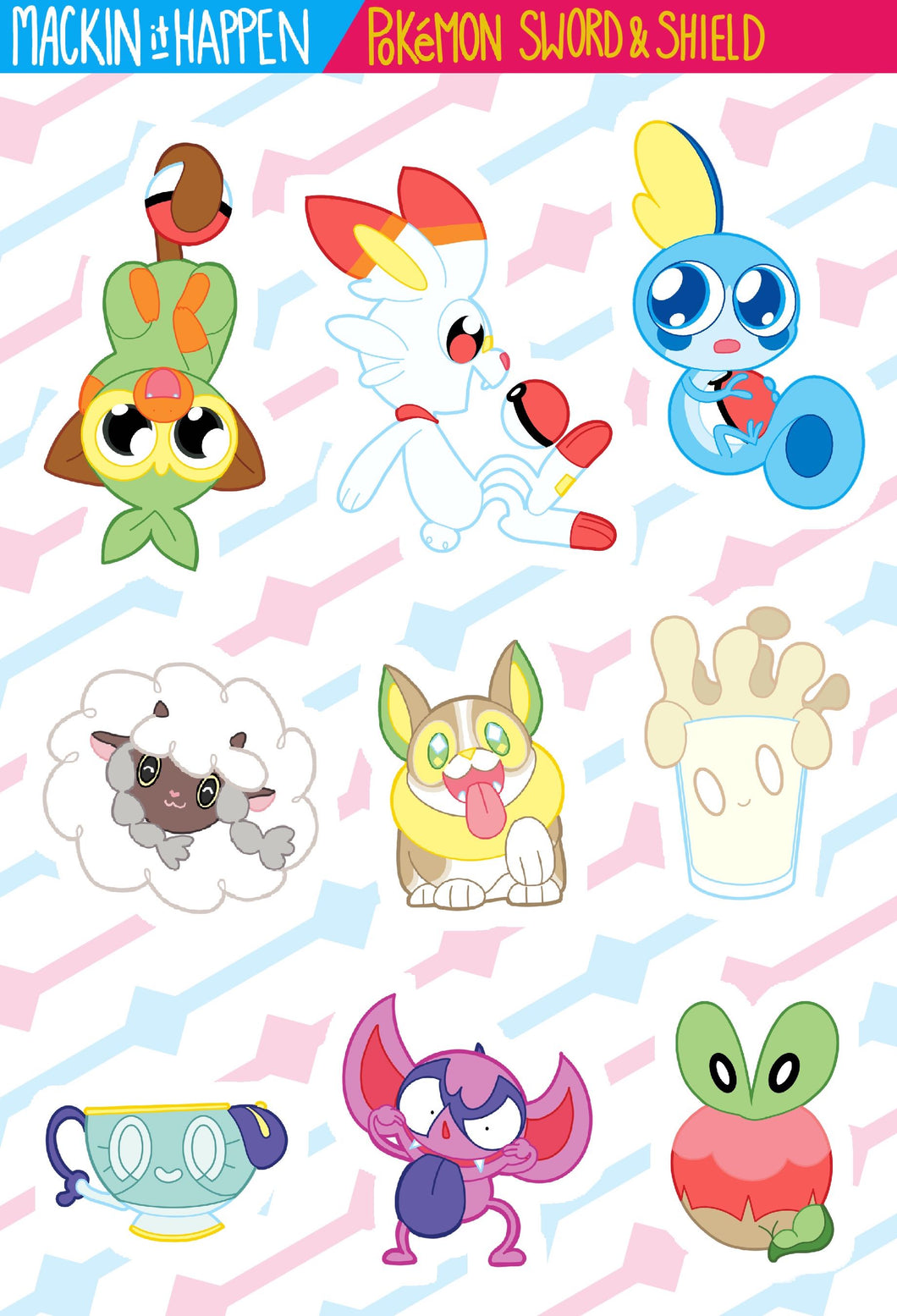 Pokemon Sword & Shield Sticker Sheet