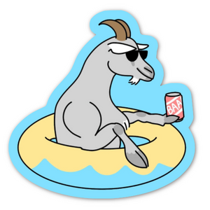 Float Goat Sticker