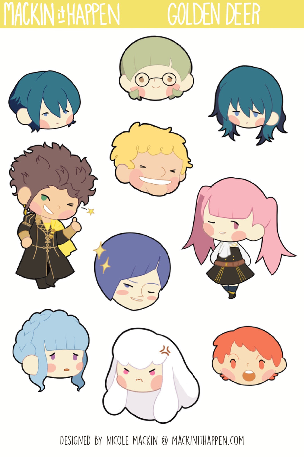Fire Emblem 3 Houses Sticker Sheets
