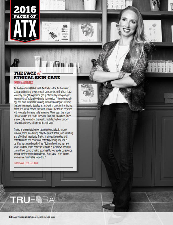 2016 Faces of ATX - The Face of Ethical Skin Care - Trufora