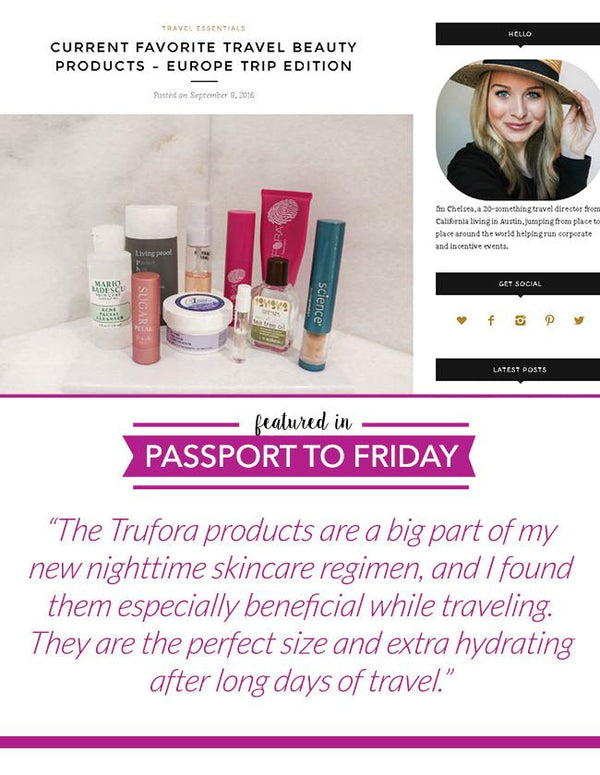 Favorite Travel Beauty Products from Trufora - Trufora