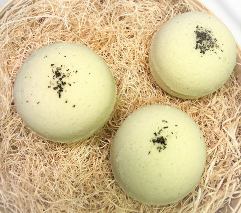 All Natural Green Tea & Lemongrass Bath Bomb