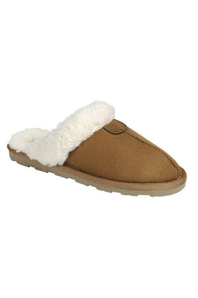 Fuzzy & Cozy- {Black/Gray/Tan} Slippers