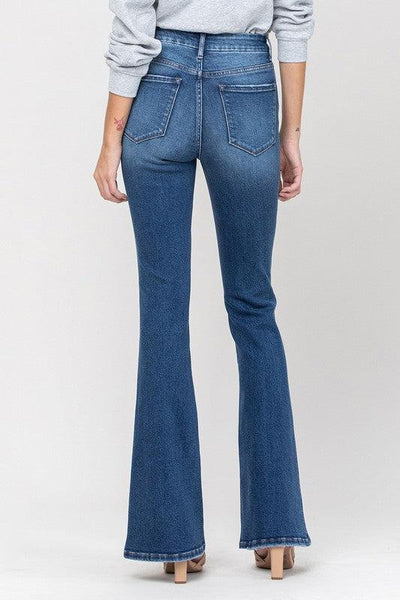 The Randy's- High Rise Distressed Flare Jeans