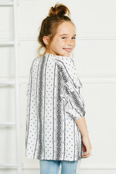 Standing Next To Me - Kid's Boho Printed Tunic