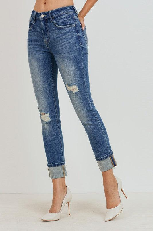The Piper's- Slim Straight Medium Wash Jeans
