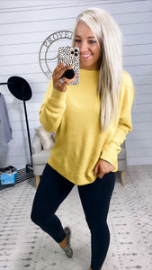 Can't Be Alone-  Ribbed Long Sleeve Dolman