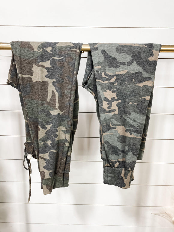 I'm Worth It- {Brown & Olive} Camo Joggers