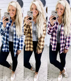 True To Me- {Brown, Navy, Red} Plaid Button Down Shirt