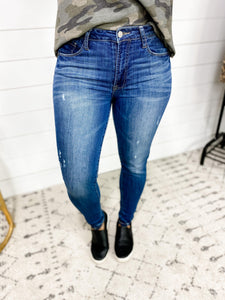 The Erica's- Medium Wash Ankle Skinny Jeans