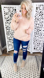 Feels So Good- Blush Plush Pullover