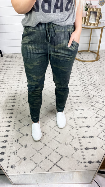 Lots To Love - Ribbed Camo Joggers