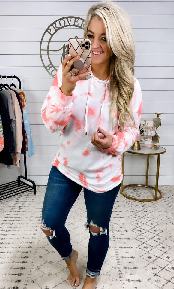 Just Another One- Pink Tie Dye Hoodie