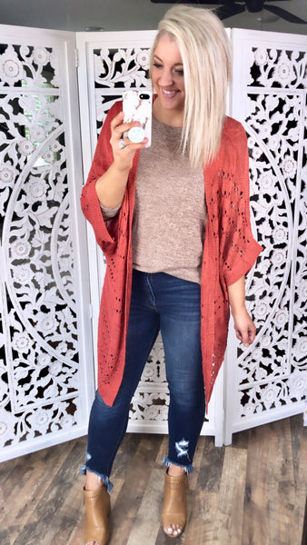 Hanging On- Knitted Cardigan