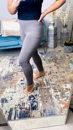 Gotta Keep Moving- Smokey Gray Butter Soft Leggings w/ POCKETS