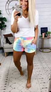 It Will Work- Bright Color Tie Dye Shorts