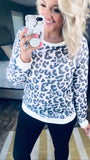 Everything's Ok- Soft B&W Leopard Long Sleeve