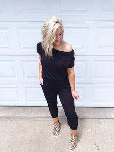 Hello Boss Babe- Black Jumpsuit