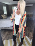 Tell Me Something Good- Multi Color & Print Kimono