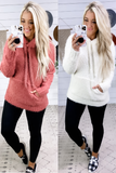 No Wonder- {Dusty Rose & Ivory} Soft Popcorn Hoodie