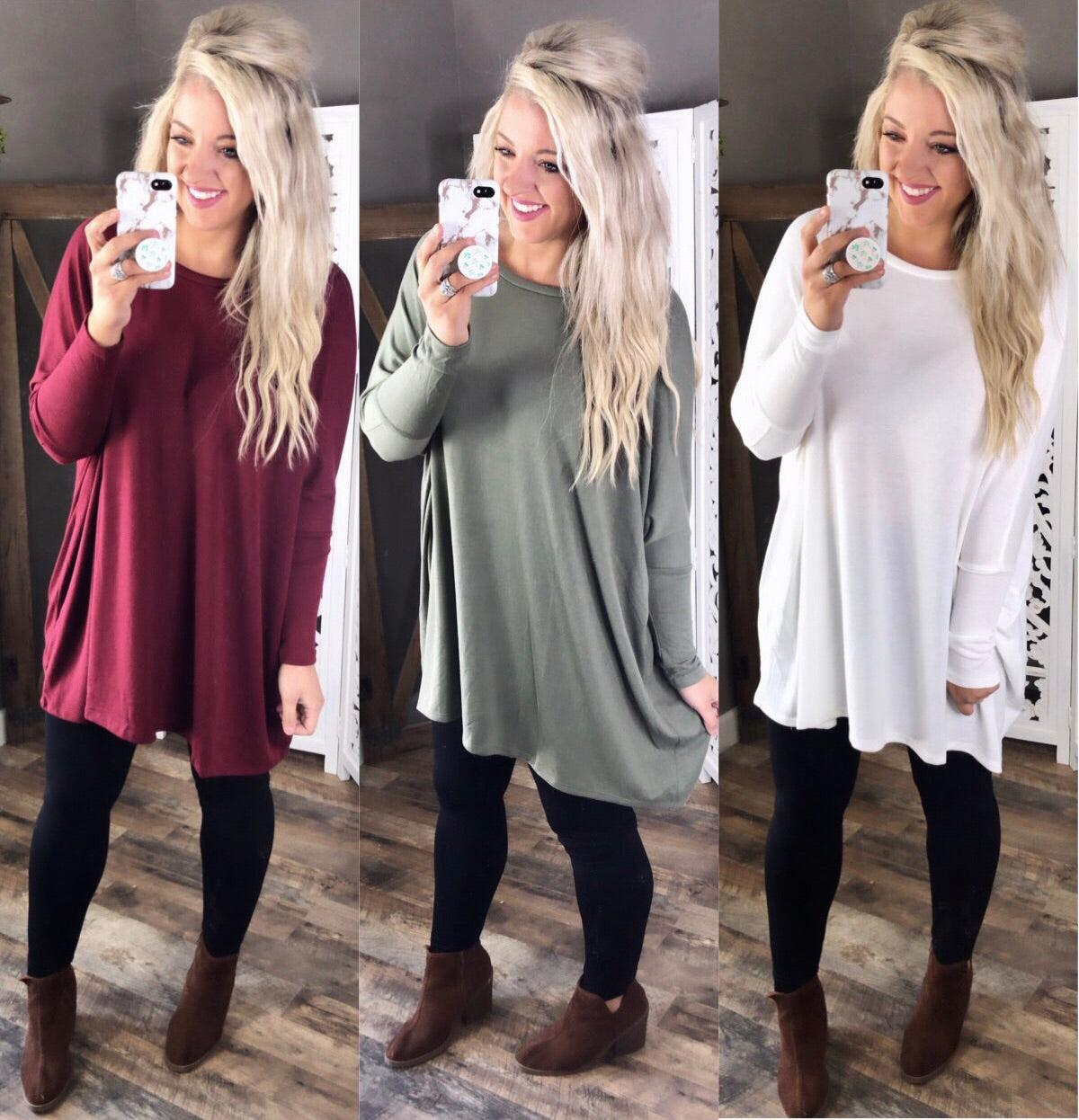Rest Your Head- Oversized Round Neck Sweater