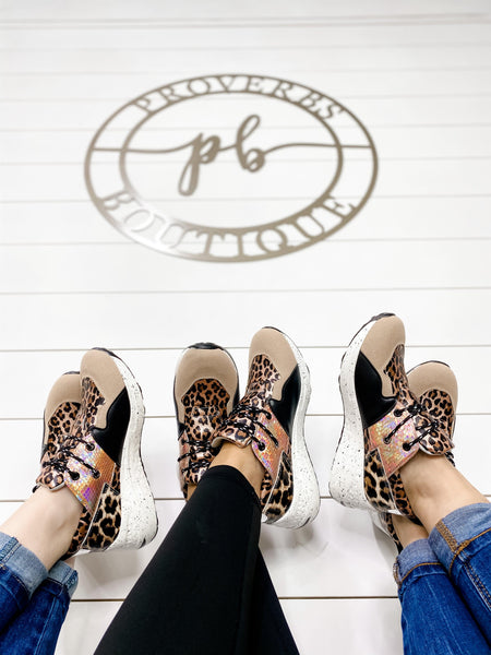 The Hustle- Leopard Multi Print Sneaker