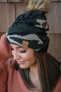 Camo Knit Stocking Cap
