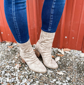 A Good View- Slouch Top Zip Up Boot