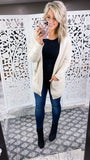 Write This Down -Cream Knitted Cardigan