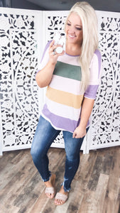 Be Bold- Wide Multi Color Stripes - FINAL SALE