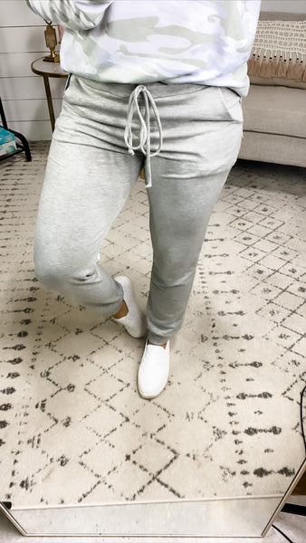 Waking Up- Gray Joggers w/ Pockets