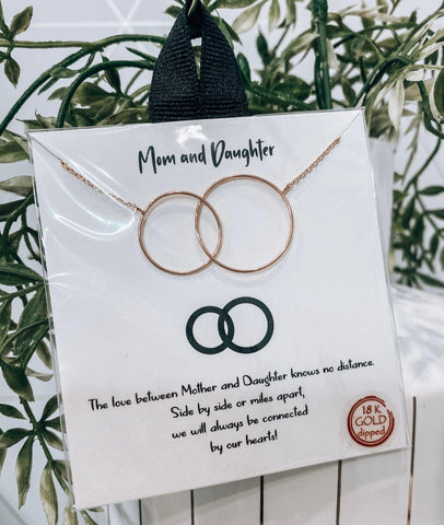 Mom & Daughter {Gold & Silver} Connected Circles Necklace