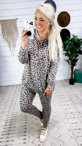 Super Cozy- Top OR Pants Leopard Lounge Wear