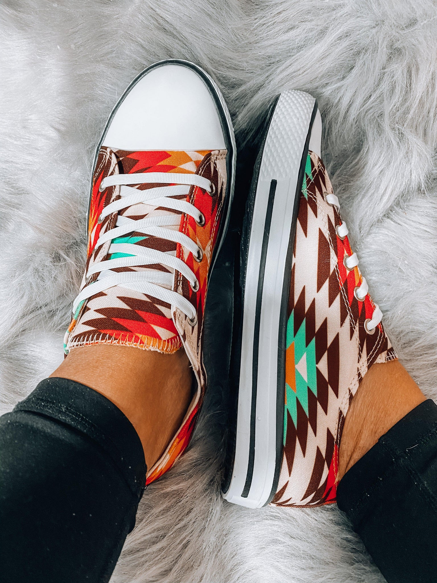 Has The Look- {Aztec/Camo/White} Sneaker
