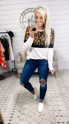 Closing Time 2.0- Leopard/Black/White Long Sleeve Top