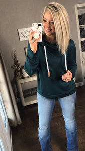 Over-Sized Hoodie {Hunter Green}