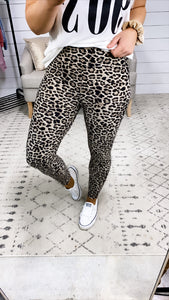 Spice It Up- Leopard Print Leggings