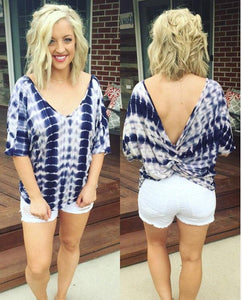 Twisted Tie Dye - Purple Tunic