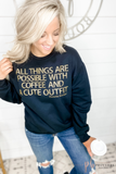 All Things Are Possible...-Sweatshirt Leopard Print