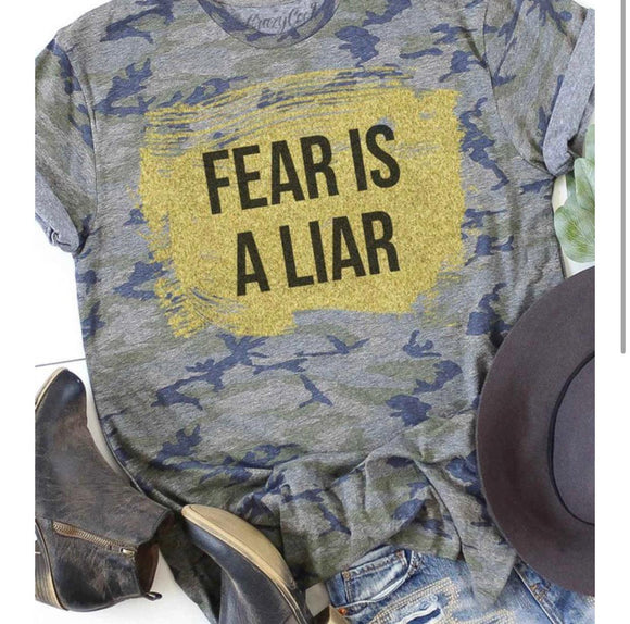 Fear Is A Liar- Camo & Gold Tee
