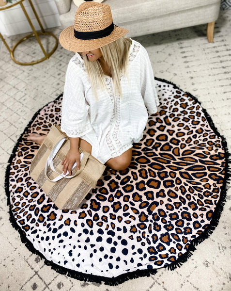 Round Beach Towel- {Zebra} {Leopard} {Tropical}