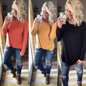 Perfect Tee {Black, Orange, Mustard}