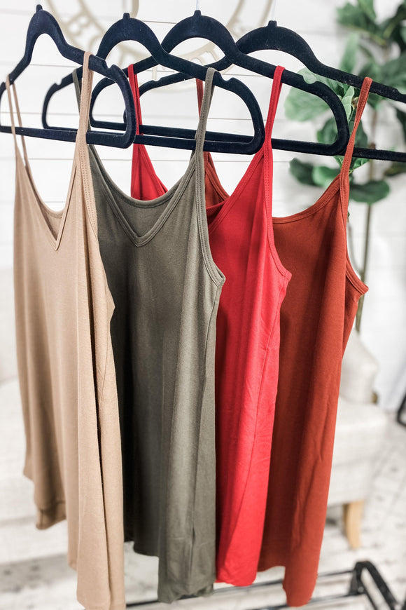 Basic Girl Reversible Tank - FALL COLLECTION {Red, Brick, Black, Olive, Mocha}