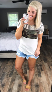 You Got This- Camo/Stripes Color Block