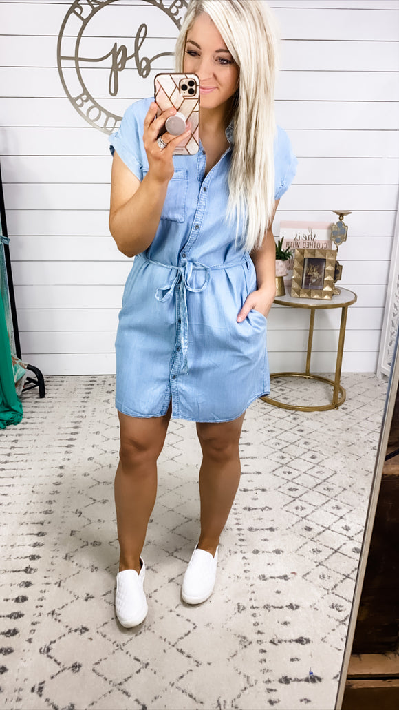 When I Go- Denim Dress