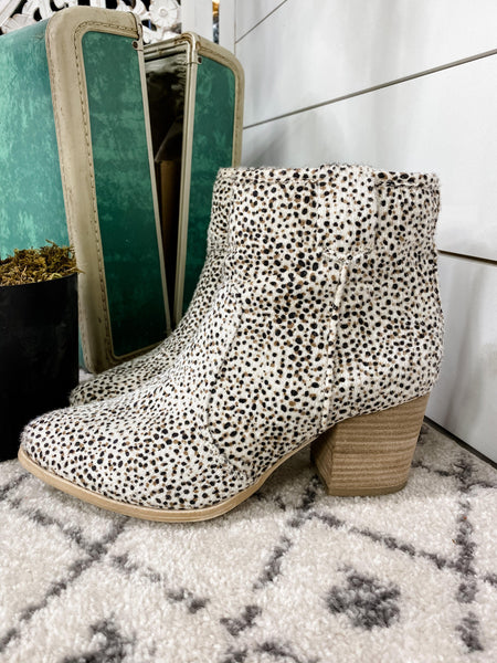 Own It- Beige Dalmatian Print Boots