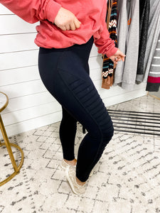 Great Times-Black  MOTO Leggings
