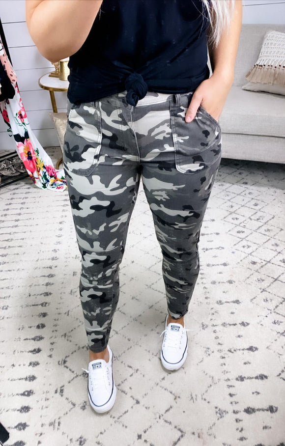 Free To Love- Army Print Pants