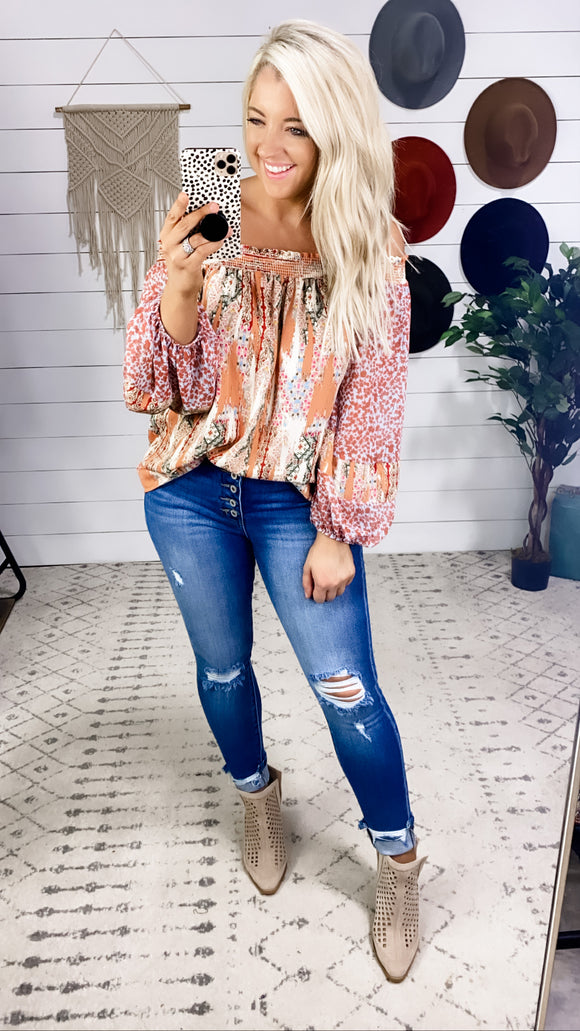 You're Perfect- Multi Print Off Shoulder
