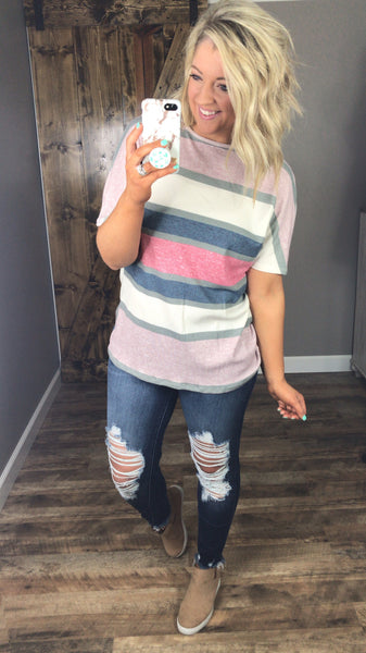 Twisted Up- Stripe Twist Top